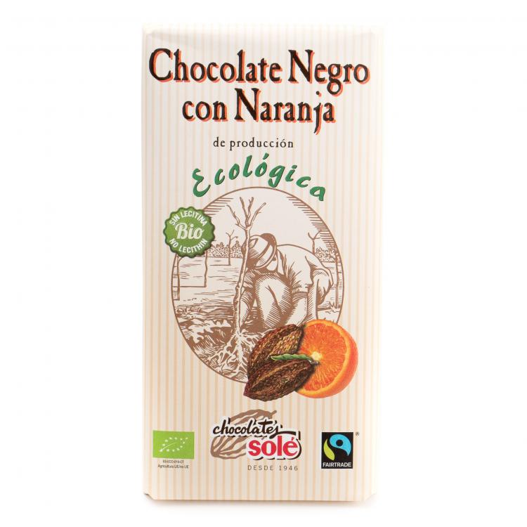 Chocolate negro naranja ecológico