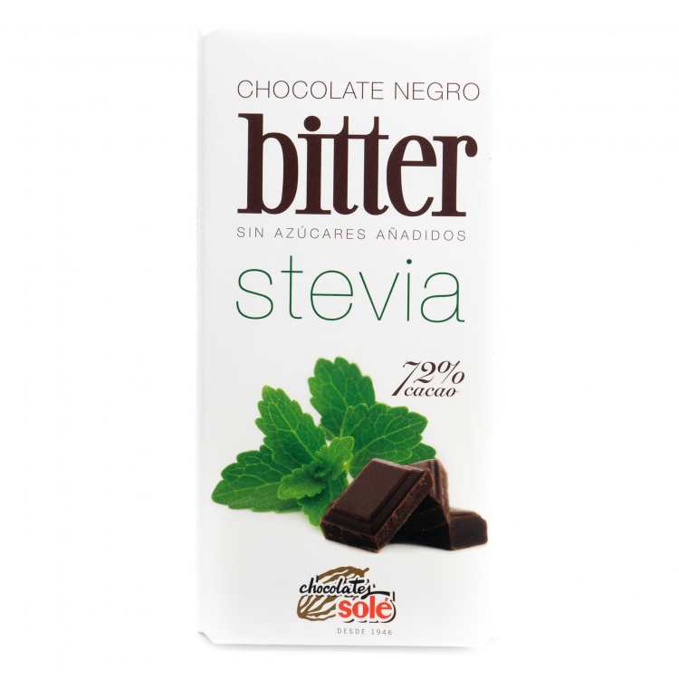 Chocolate stevia 72%