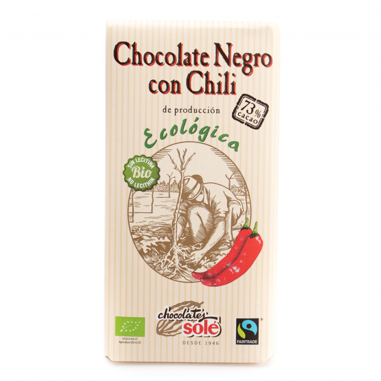 Chocolate negro 73% chili ecológico