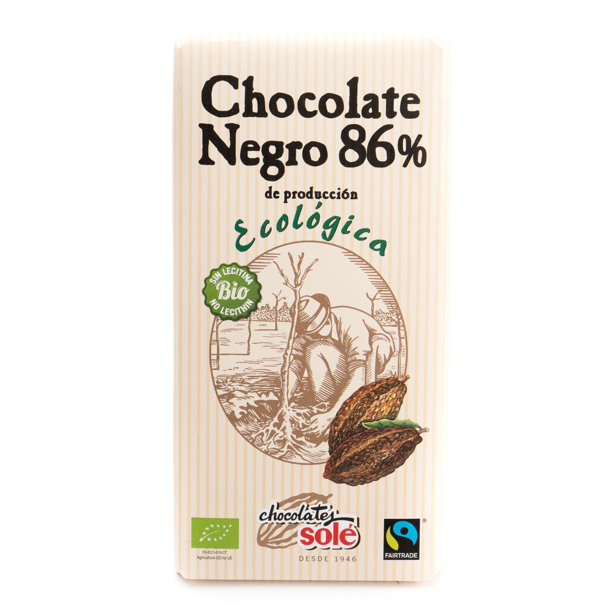 Chocolate negro 86% ecológico