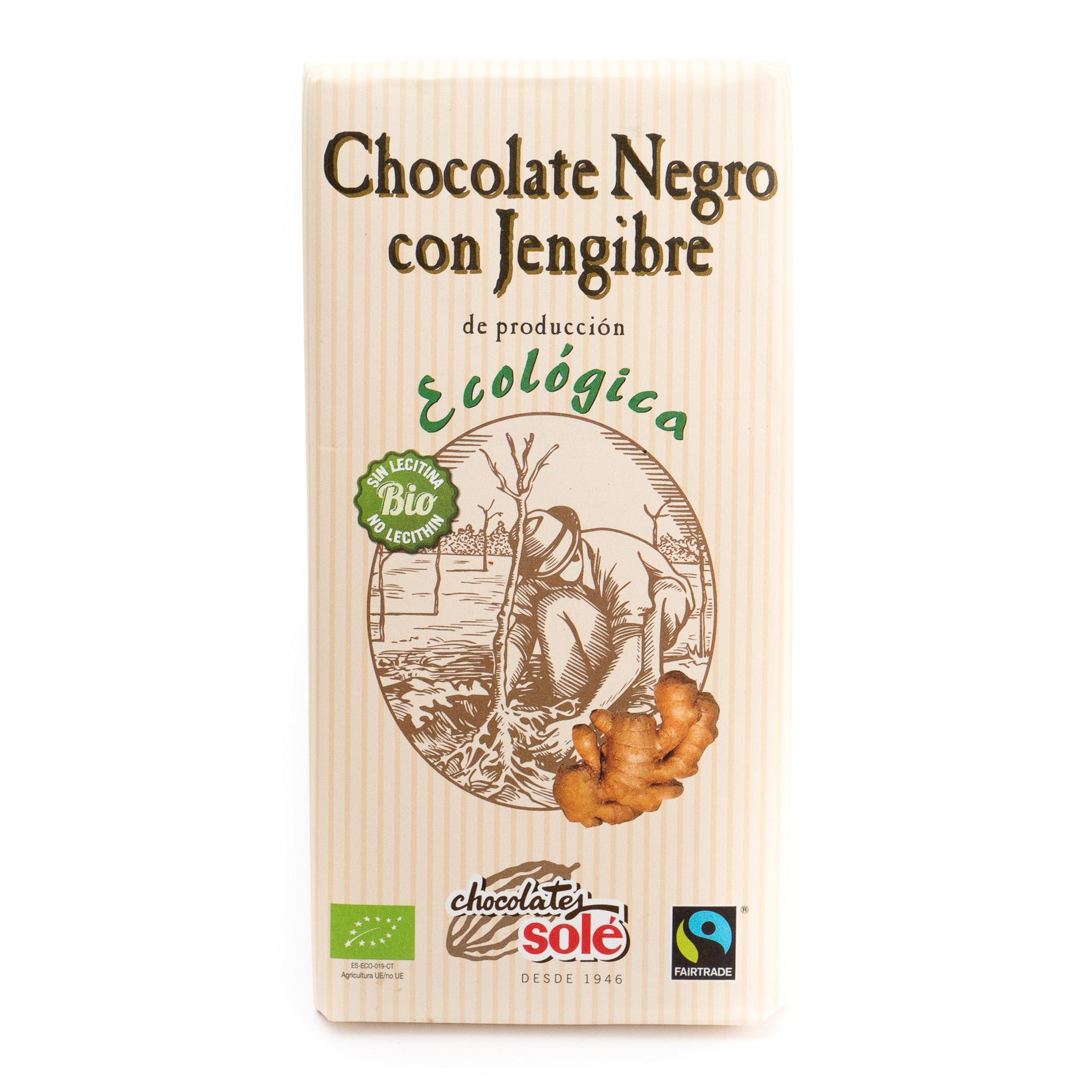 Chocolate negro con jengibre ecológico