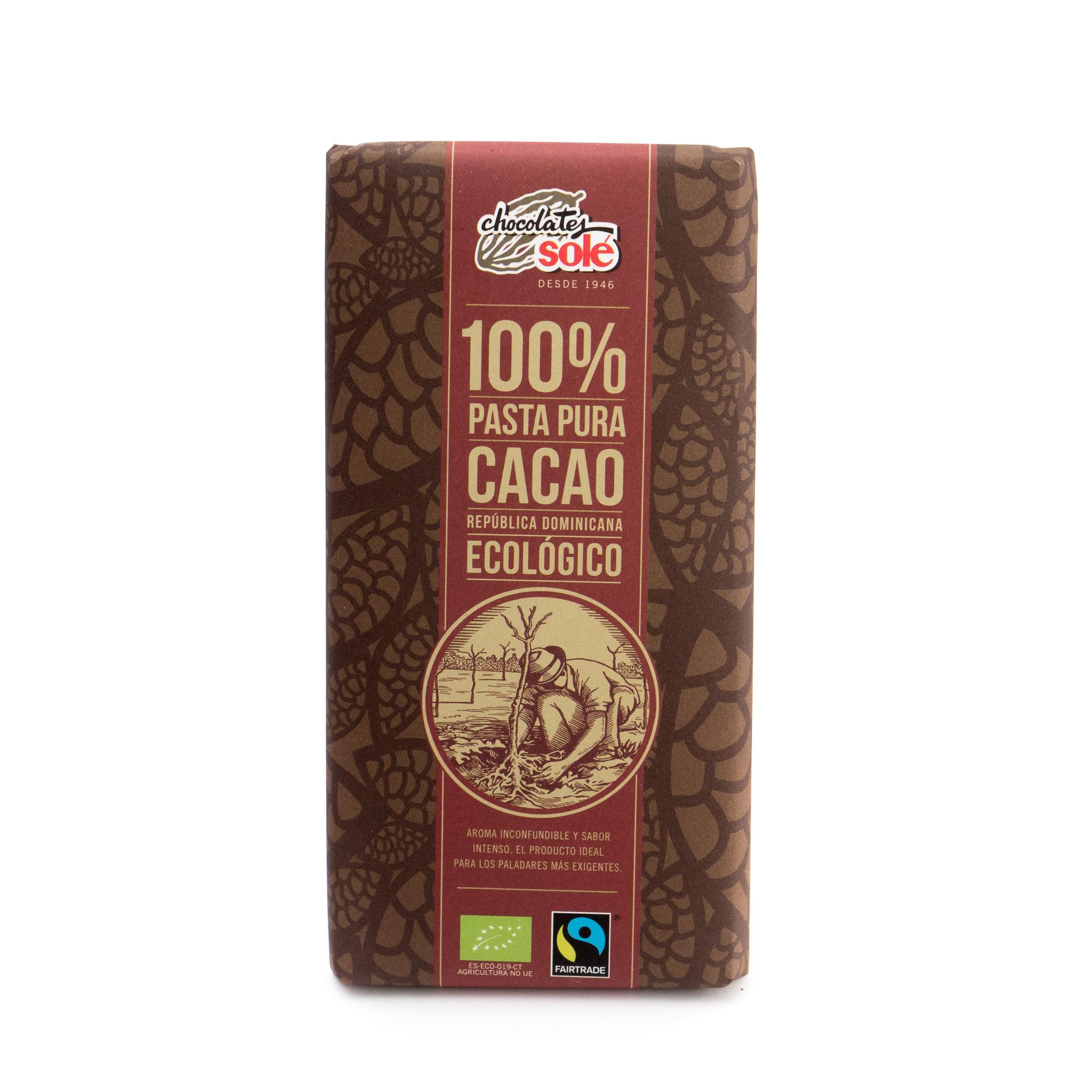 Chocolate negro 100% ecológico