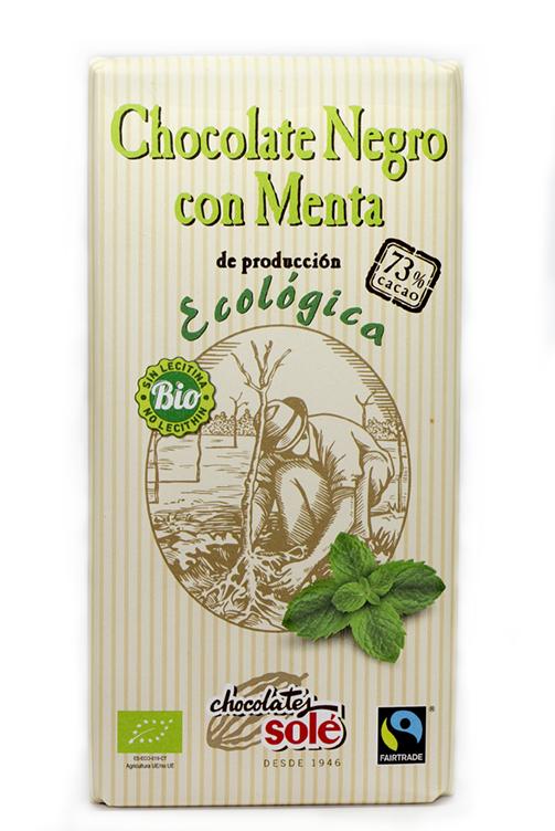 Chocolate con menta ecológico