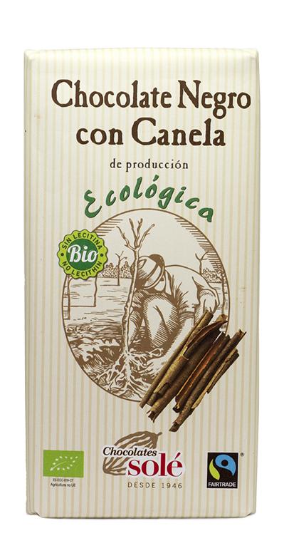 Chocolate con canela ecológico
