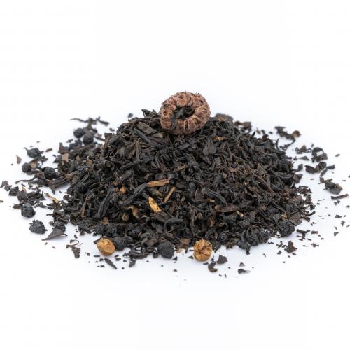 Té negro con frutos del bosque