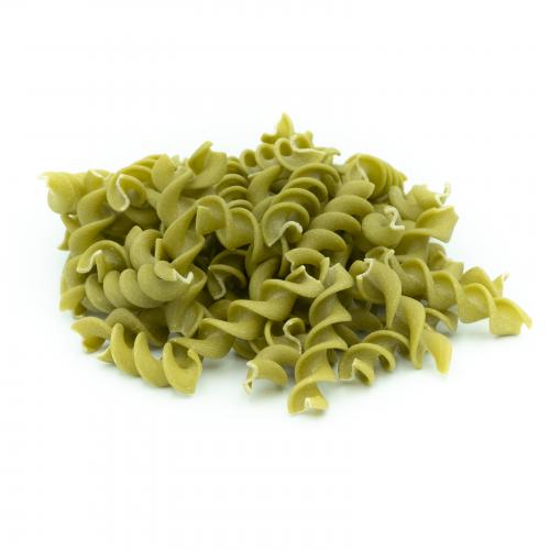 Espirales de guisante verde