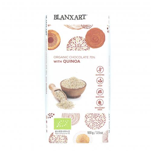 Chocolate negro 70% ecológico con quinoa